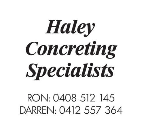 Haley Concreting sponsor